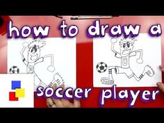 How To Draw A Soccer Player - Art for Kids Hub