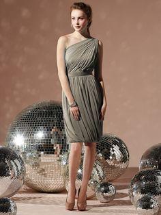 One shoulder chiffon dress - bridesmaids