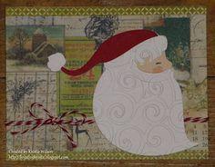Scrap, Color, Read & Repeat: Christmas Card Day 14 Santa - cricut joys of the season cartridge Cricut Christmas Cards, Cricut Cards, All Things Christmas, Cardmaking, Paper Crafts, Joy, Seasons, Card Ideas, Handmade