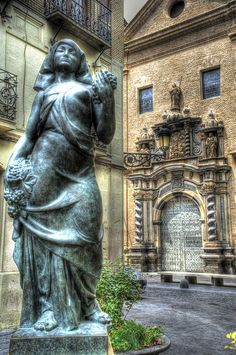 Sculpture of Pablo Gargallo. Church of San Felipe, Zaragoza, Spain