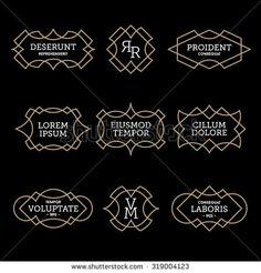 luxury antique vintage monochrome art deco old hipster minimal geometric linear vector frame , border , label for your logo, badge or crest for club, bar, cafe, restaurant, hotel, boutique