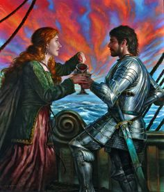 Art featuring medieval knights and their fantasy/sci-fi counterparts. Tristan Und Isolde, King Arthur Legend, Knight In Shining Armor, Fantasy Inspiration, Medieval Fantasy, Fantasy Art, Dark Fantasy, Mythology, Illustrators