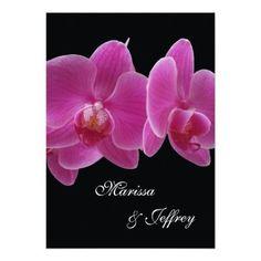 Orchid Wedding Invitation -- Purple