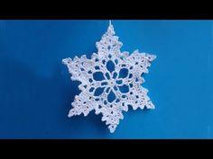 How to crochet snowflake - Снежинка - Pattern for free - Вязание крючком - YouTube