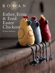 Esther, Ernie & Enid Easter Chickens Toys in Rowan Baby Merino Silk DK. Discover more Patterns by Rowan at LoveKnitting. The world's largest range of knitting supplies - we stock patterns, yarn, needles and books from all of your favorite brands. Knitting Patterns Free, Free Knitting, Crochet Patterns, Free Pattern, Knitting Wool, Knitting Needles, Knitting Supplies, Knitting Projects, Crochet Yarn