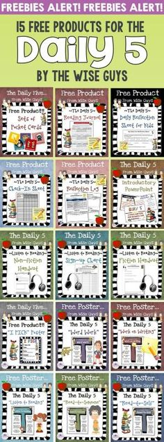 15 FREE Daily 5 Resources. Great for grades 3-5 that will help your class be organized and ready! by carmela