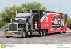 Big Trucks, Semi Trucks, Racing Team, Auto Racing, Kurt Busch, Free Stock, Truck Art, Stock Image, Peterbilt Trucks
