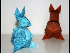 Je vous propose aujourd'hui un origami qui peut servir de décoration pour Pâques. C'est un lapin créé par Paul Jackson qui se compose de deux parties, la tête et le corps, à assembler avec un point de colle pour terminer le modèle. Les deux parties de l'animal sont à gonfler comme la bombe à eau, ce qui donne l'aspect rondouillard bien sympathique à ce modèle. Pour encore plus de vidéos, photos et tutoriels, venez nous visiter sur http://www.senbazuru.fr