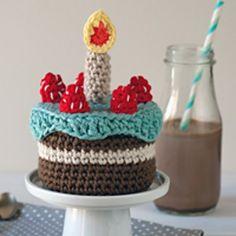 FREE Amigurumi Birthday Cake Pattern by Lucia Lanukas