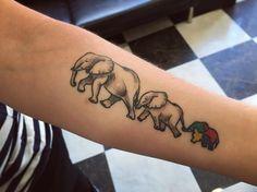 Estos chicos vinieron el otro día curaditos a verme  Healed tattoo  #andrealosantos #tattoo #tattooapprentice #elephanttattoo