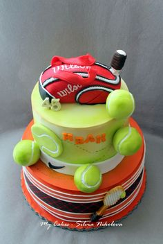 Tennis Cupcakes, Tennis Cake, Tennis Party, Cake Cookies, Cupcake Cakes, Tennis Decorations, Decors Pate A Sucre, 30 Birthday Cake, Sport Cakes