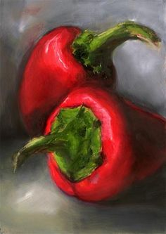 """Red Peppers"" - Original Fine Art for Sale - © by Sunny Avocado"