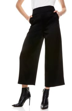 Black Cropped Pants, Gaucho, Alice Olivia, Work Wear, Nordstrom, Clothes For Women, Female, Pants Style, Shopping