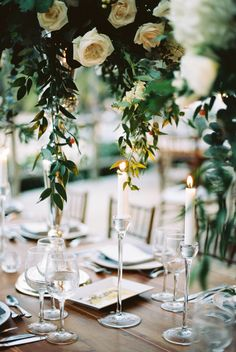 Greenery wedding decor: http://www.stylemepretty.com/destination-weddings/2017/02/17/embracing-beach-glamour-on-the-shores-of-punta-cana/ Photography: Asia Pimentel - http://dominicanrepublicphotography.com/