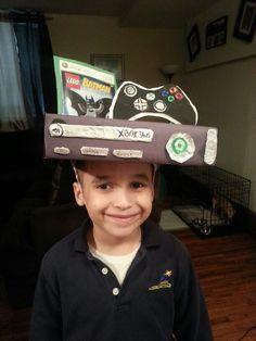 Crazy hat day Crazy Hat Day, Crazy Hats, Crazy Socks, Crazy Hair Boys, Crazy Hair Day At School, School Fun, School Days, Minecraft Hat, Dr Seuss Week