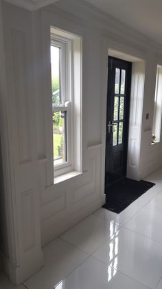 Stylishly Clical Georgian Panelling Entrance Colours Windows Wall Wood House