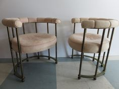 Pair Of Mastercraft Mid-Century Modern Brass Barrel Back Lounge Chairs. by FLORIDAMODERN on Etsy
