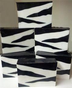 Zebra print Soap By The Slice, glycerin soap, brown sugar and fig, Handmade Soap, Fragrant soap, decorative soap, animal print soap. $6.00, via Etsy.