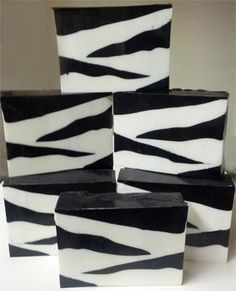 Zebra print Soap By The Slice, glycerin soap, brown sugar and fig, Handmade Soap, Fragrant soap, decorative soap, animal print soap. $6.00, via Etsy.