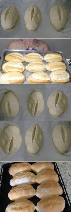 - How to make FRENCH BREAD HOME. Beat the dough for 10 minutes (can be made in the blender with the kneading hook ) to remove the dough from the sides of the bowl, sprinkling with flour. Take the bo … Pan Bread, Bread Cake, Bread Recipes, Cooking Recipes, Mexican Bread, Mini Pizza, Pan Dulce, Paleo Dessert, Mexican Food Recipes