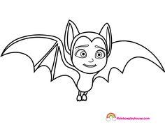 Printable Vampirina Bat Coloring Page