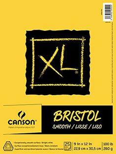"""Canson XL Series Bristol Pad, 9""""X12"""" Smooth Fold Over Canson"""