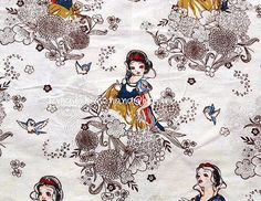 gz015B  1 Yard Cotton Linen Fabric  Disney by happynanaShop