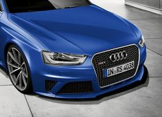 If i saw this shark chasing my tail, I wouldn't be scared. I'd be jealous. This Audi looks amazing in Blue.