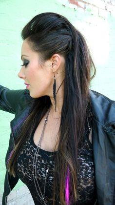 Rock chic hair