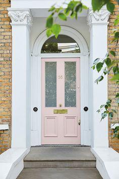 Little Greene - Dorchester Pink - Mid Door The Doors, Entry Doors, Entrance, Entryway, Rideau Rose Pale, Pouf Rose, Little Greene Paint, Garage Door Styles, Garage Doors