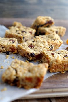 Ginger and Fruit Flapjacks packed with rasins, apricots and currants