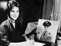 1959 - ELVIS MEETS HIS FUTURE WIFE PRISCILLA, IN GERMANY In 1959, Elvis Presley first met his future wife, 14-year-old Priscilla Beaulieu, while stationed in West Germany with the U.S. Army. (They married in 1967, but divorced in 1973.)