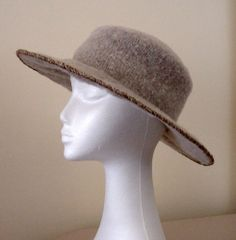Knit and Felt Brimmed Pillbox Hat by knittingand, via Flickr