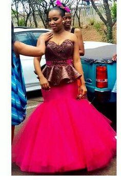 My fuschia mermaid dream African Print Dresses, African Wear, African Attire, African Fashion Dresses, African Women, African Dress, South African Wedding Dress, African Traditional Wedding Dress, Traditional Outfits