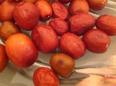 """Red Dates, also called Jujubes are known to help improve blood circulation and """"repair blood"""". Chinese ladies love to use red dates for rejuvenation after giving birth or after their monthly period...."""