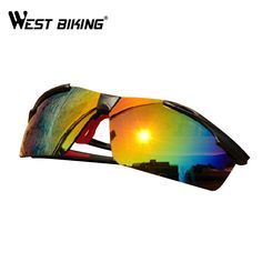 WEST BIKING Cycling Glasses Sports Equipment Sunglasses Male And Female  Lenses Bicycle Eyewear Outdoor Sports Cycling Eyewear