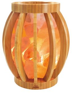 Himalayan Salt Lamps For Sale Glamorous Himalayan Salt Lamp With Salt Chunks In Cylinder Design Metal Basket