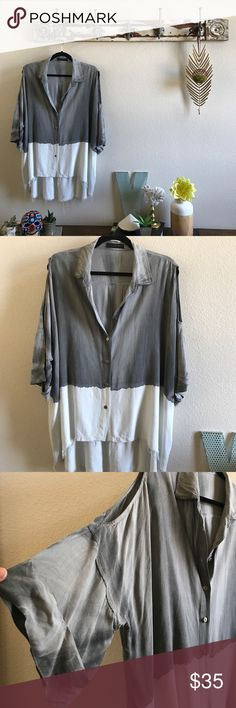 MONOB Frayed Edge Cold Shoulder Top You beautiful babes who know me know my policy, if I buy 3 items 3 have to go  This is from Neiman Marcus and I am so sad to list. It's in excellent shape, I've only ever dry cleaned it and it's actually coming to you freshly dry cleaned. MONOB Tops Tunics