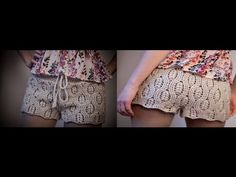 Tutorial Patrón pantalón short crochet o ganchillo paso a paso .