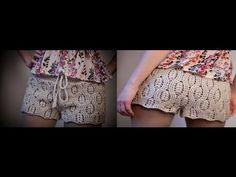Tutorial Patrón pantalón short crochet o ganchillo paso a paso .