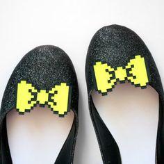 bow tie pixel shoes