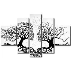 Alberi rappresentano un motivo ispirante nella pittura - noi siamo stati ispirati a creare questo romantico e suggestivo quadro #alberi #astratti #quadro #quadri #quadriastratti #decorazioni #homedecor #decori #decorazionimurali #home