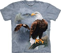 Faded Flag and Eagles by The Mountain. Patriotic American Bald Eagle NEW Decorah Eagles, Eagle America, Harley Davidson, Steampunk, Thing 1, Eagle Shirts, Mens Tees, Classic T Shirts, Graphic Tees