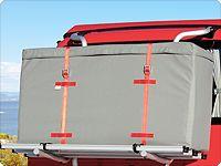 FLEXBAG Cargo Classic a fait ses preuves depuis de nombreuses années sur le porte-vélos avec barre transversale devant la vitre du hayon.