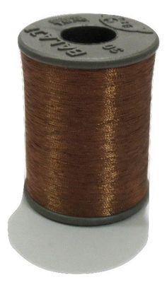 1 Spool Metallic Copper Embroidery Thread, Hand/Machine Embroidery Thread, Zari…