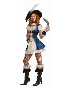 Bonnie Blue Pirate Adult Womens Costume