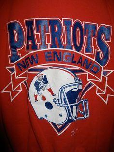 Vintage 80s New England Patriots Football Logo 7 Sweatshirt $35