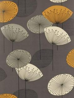 This would look so good in my dining roooooommm.    Sanderson Dandelion Clocks Wallpaper