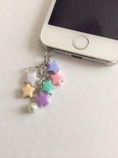 Kawaii Starburst Phone Jack Dust Plug Charm Kawaii by ExactNature, $8.00