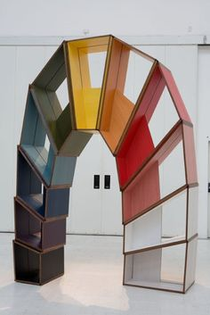 Martino Gamper: L'Arco della Pace Bookcase re-pinned by: http://sunnydaypublishing.com/books/